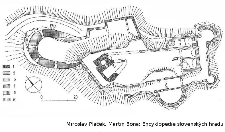 Turniansky hrad , pôdorys