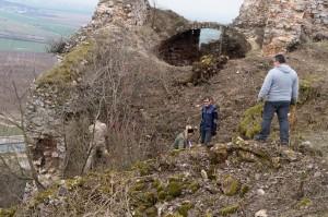 A vár északi oldalát is tisztítottuk