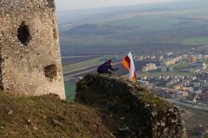 Zászló a vár fokán